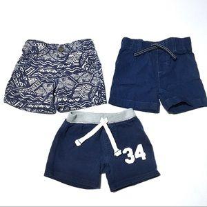 Carter's Blue Shorts - 3 Pair Bundle